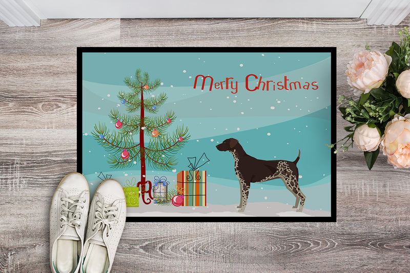Buy this German Shorthaired Pointer Christmas Tree Indoor or Outdoor Mat 18x27 CK3541MAT