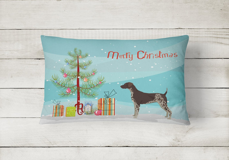 Buy this German Shorthaired Pointer Christmas Tree Canvas Fabric Decorative Pillow CK3541PW1216