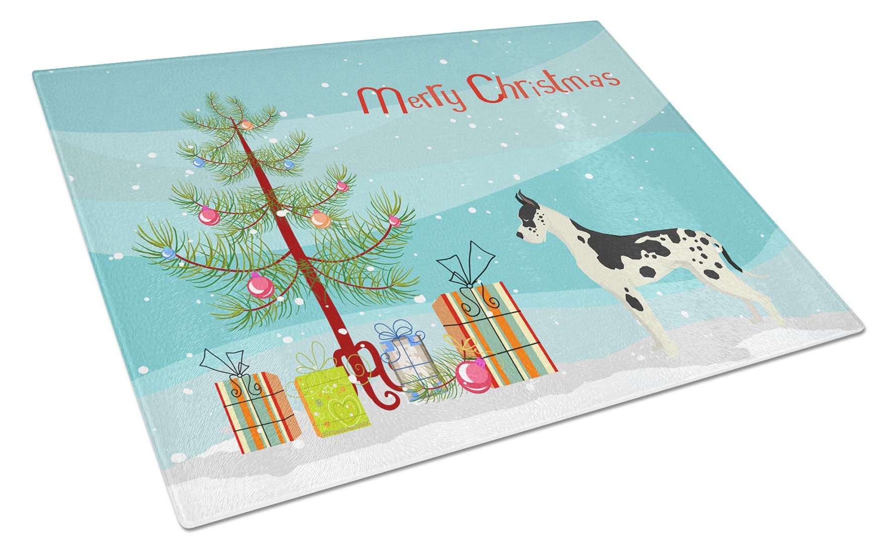 Buy this Great Dane Christmas Tree Glass Cutting Board Large CK3542LCB