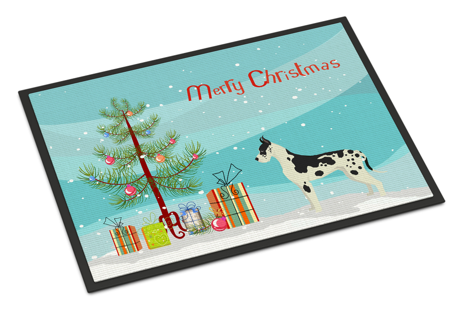 Great Dane Christmas Tree Indoor or Outdoor Mat 18x27 CK3542MAT by Caroline's Treasures