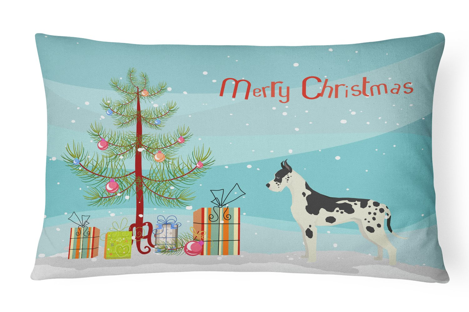 Buy this Great Dane Christmas Tree Canvas Fabric Decorative Pillow CK3542PW1216