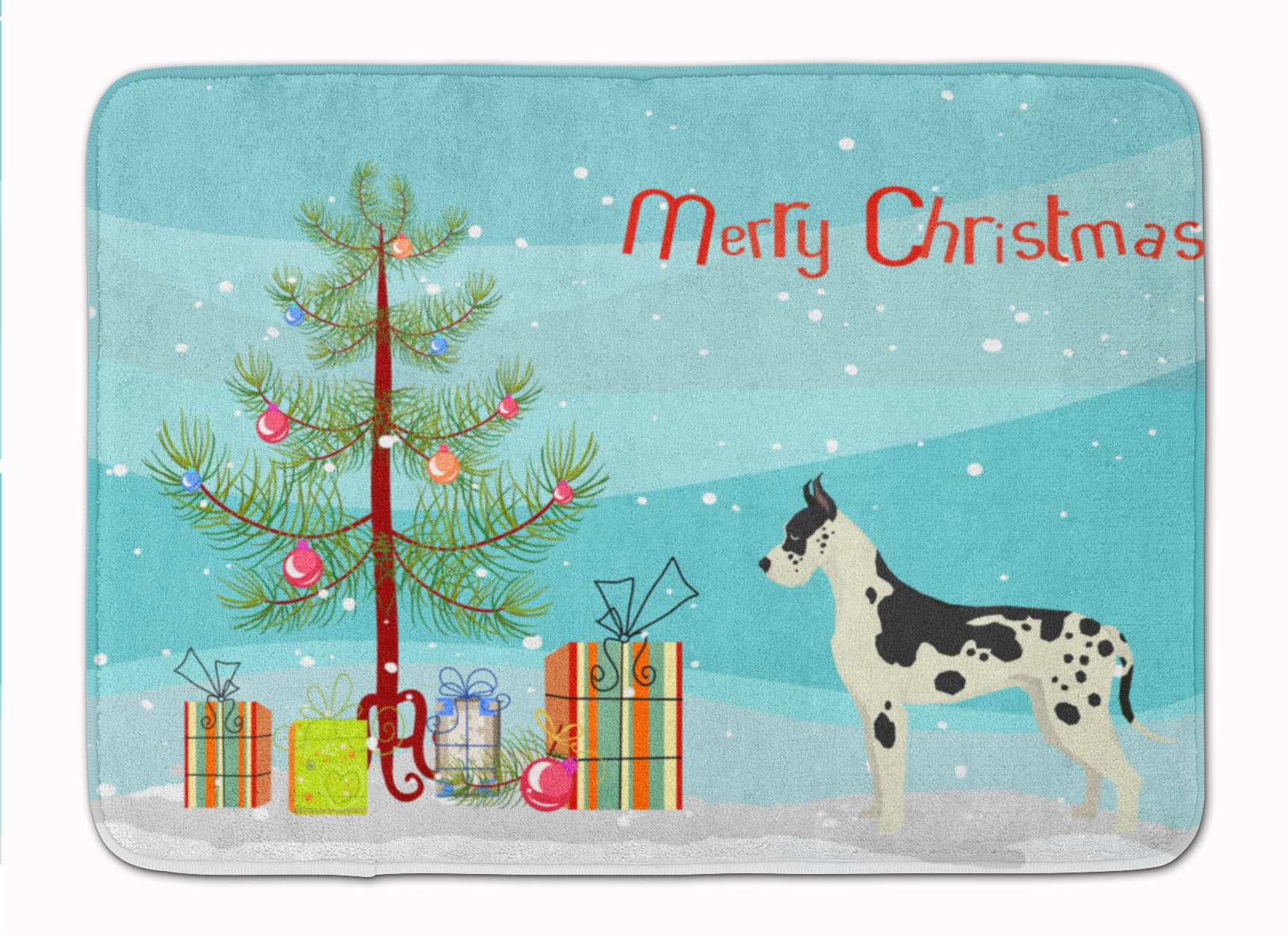Buy this Great Dane Christmas Tree Machine Washable Memory Foam Mat CK3542RUG