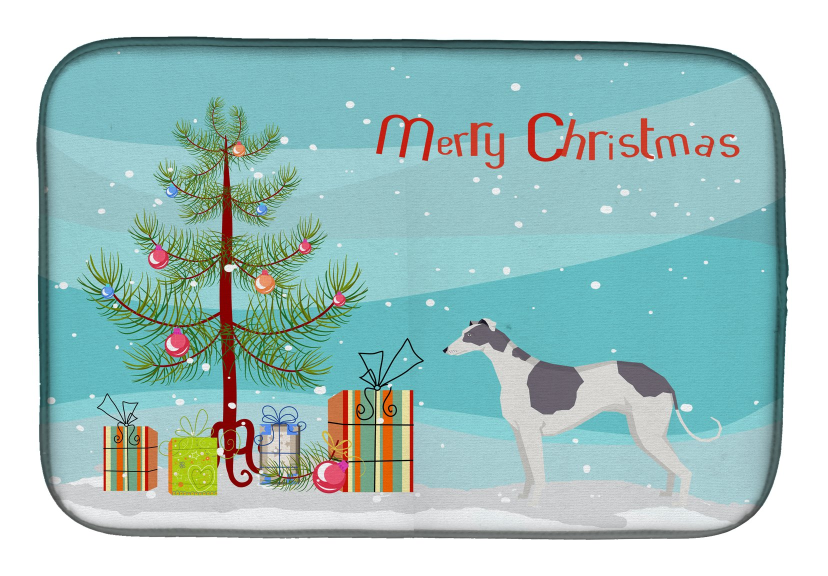 Buy this Greyhound Christmas Tree Dish Drying Mat CK3543DDM