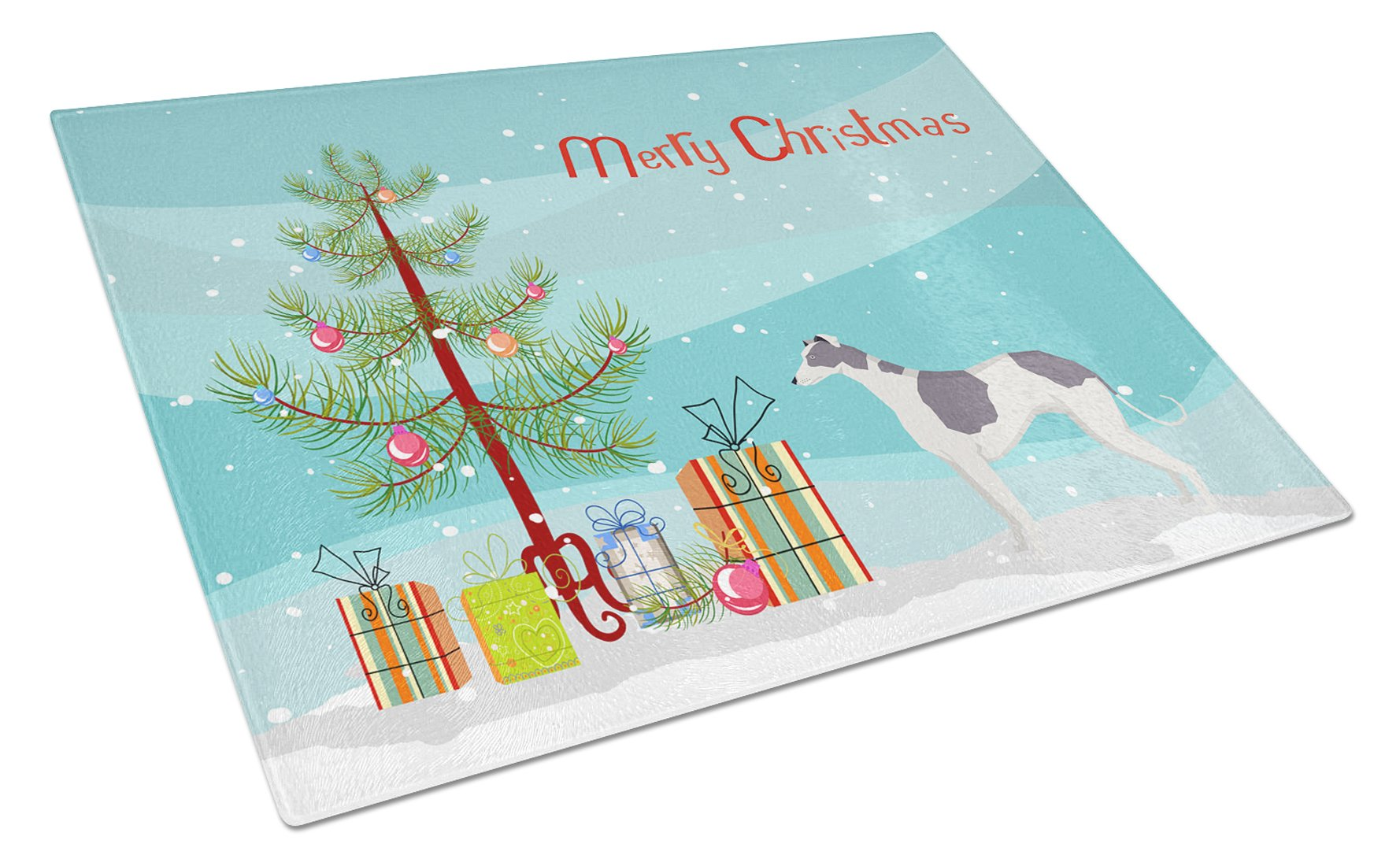 Buy this Greyhound Christmas Tree Glass Cutting Board Large CK3543LCB