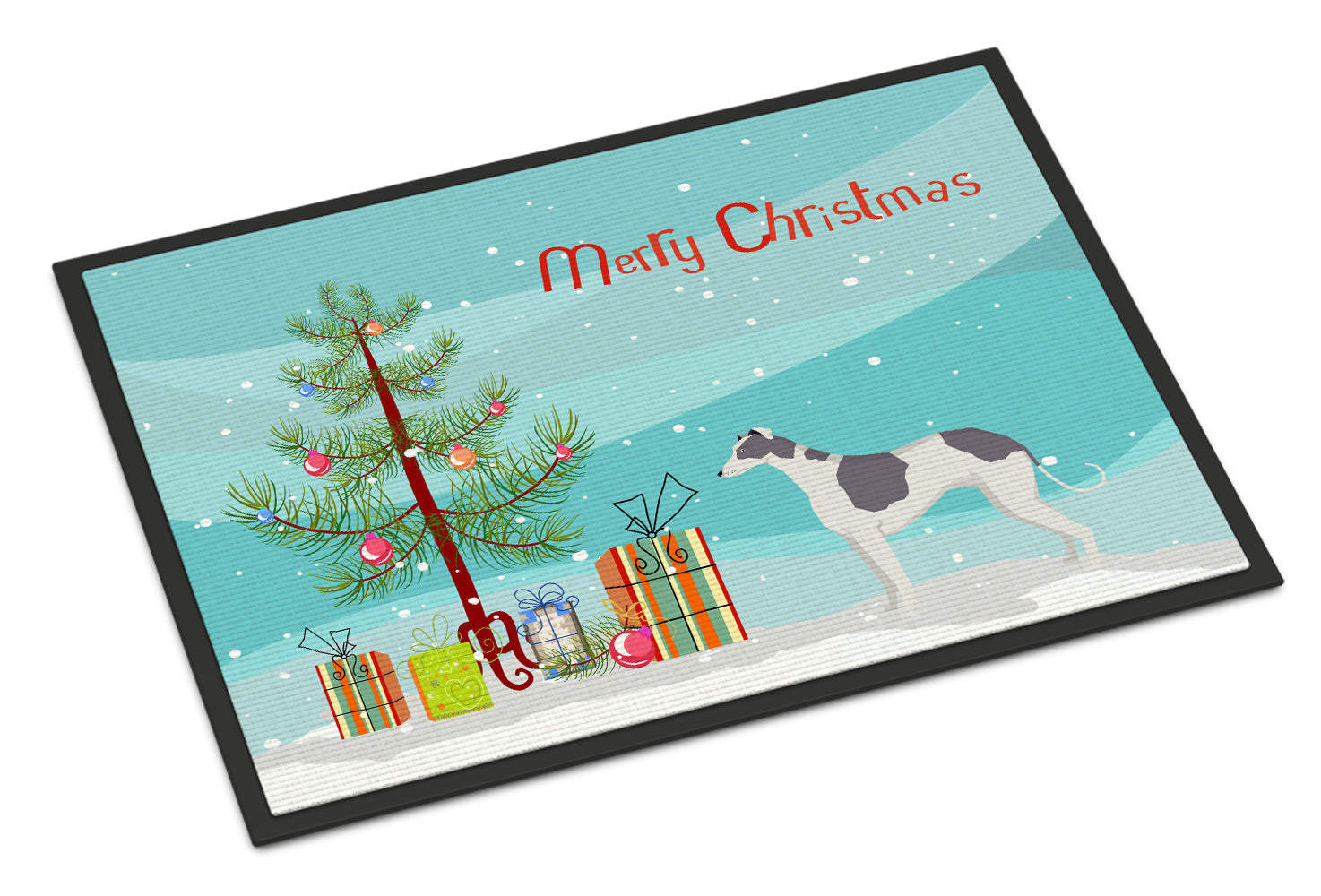 Buy this Greyhound Christmas Tree Indoor or Outdoor Mat 18x27 CK3543MAT