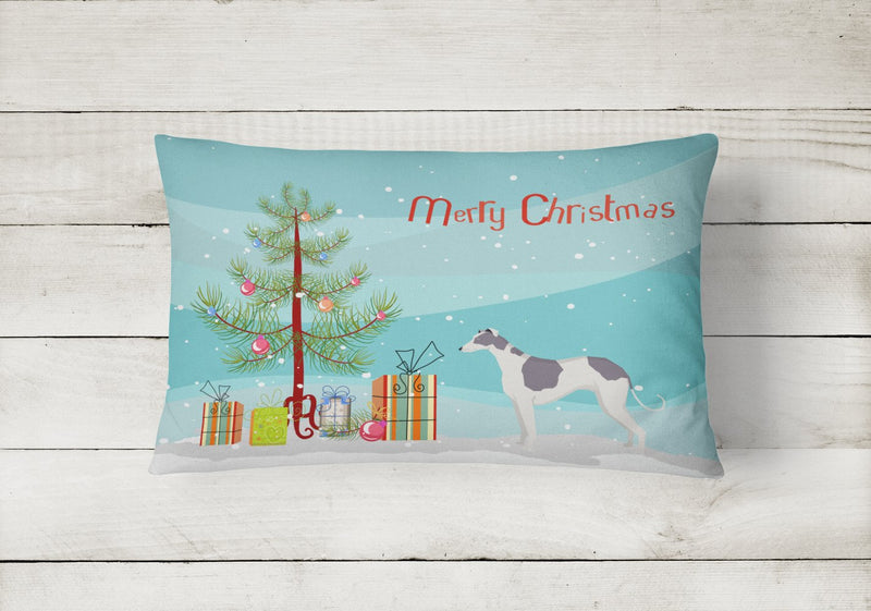 Buy this Greyhound Christmas Tree Canvas Fabric Decorative Pillow CK3543PW1216