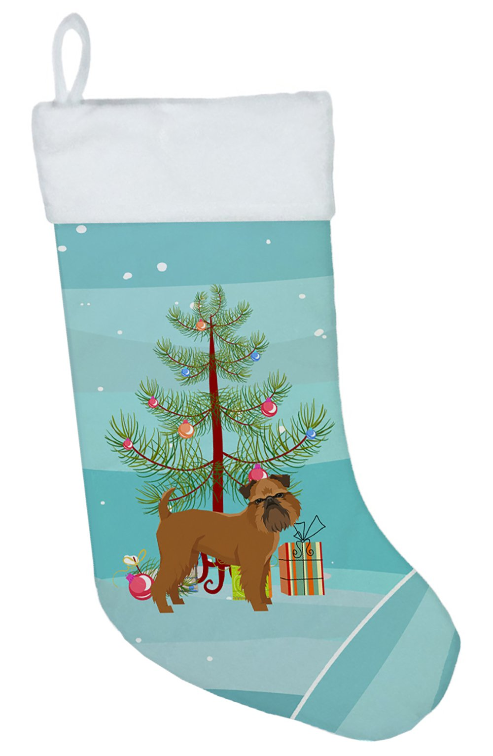 Brussels Griffon Christmas Tree Christmas Stocking CK3544CS by Caroline's Treasures