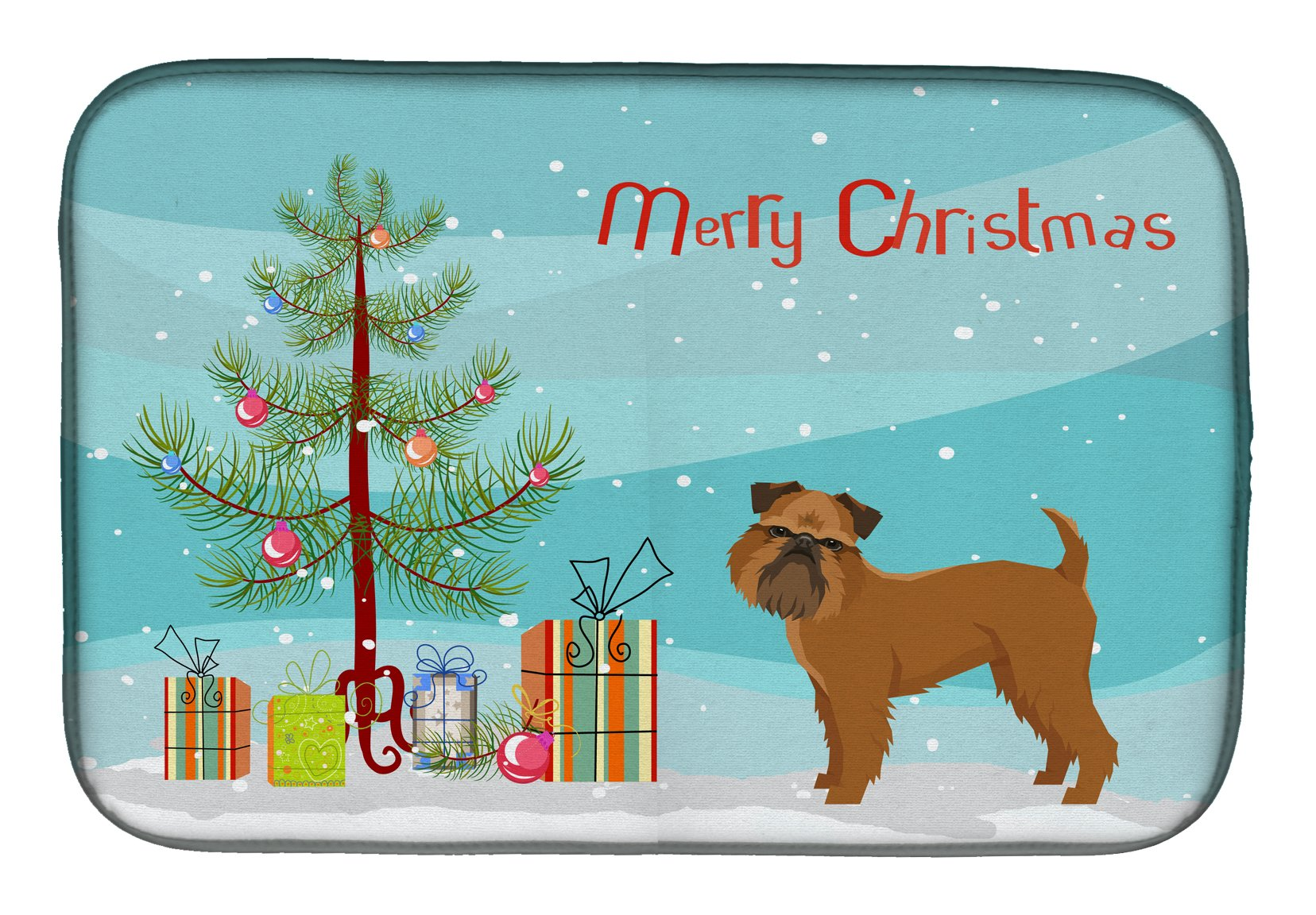 Buy this Brussels Griffon Christmas Tree Dish Drying Mat CK3544DDM