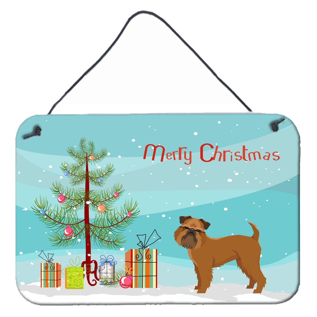 Buy this Brussels Griffon Christmas Tree Wall or Door Hanging Prints CK3544DS812
