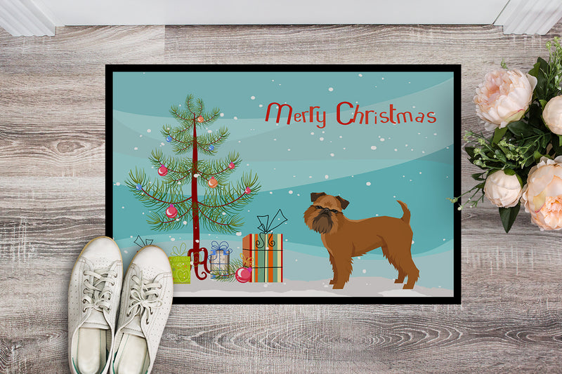 Buy this Brussels Griffon Christmas Tree Indoor or Outdoor Mat 18x27 CK3544MAT