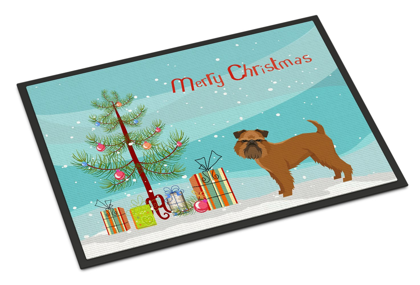 Brussels Griffon Christmas Tree Indoor or Outdoor Mat 24x36 CK3544JMAT