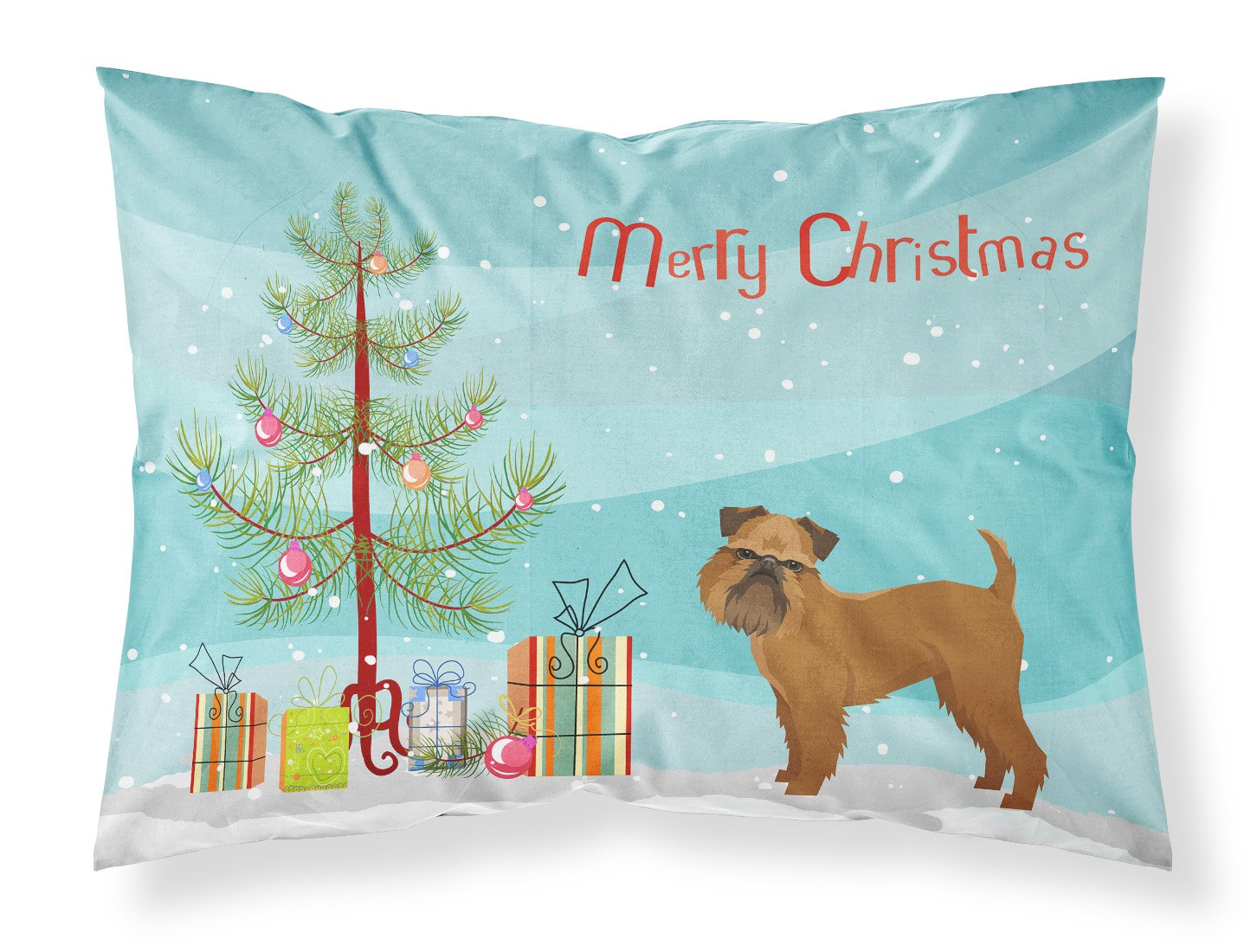 Buy this Brussels Griffon Christmas Tree Fabric Standard Pillowcase CK3544PILLOWCASE