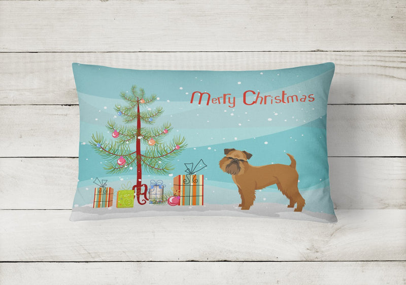 Buy this Brussels Griffon Christmas Tree Canvas Fabric Decorative Pillow CK3544PW1216