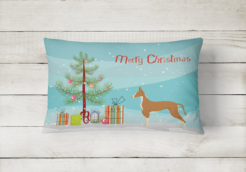 Buy this Ibizan Hound Christmas Tree Canvas Fabric Decorative Pillow CK3545PW1216