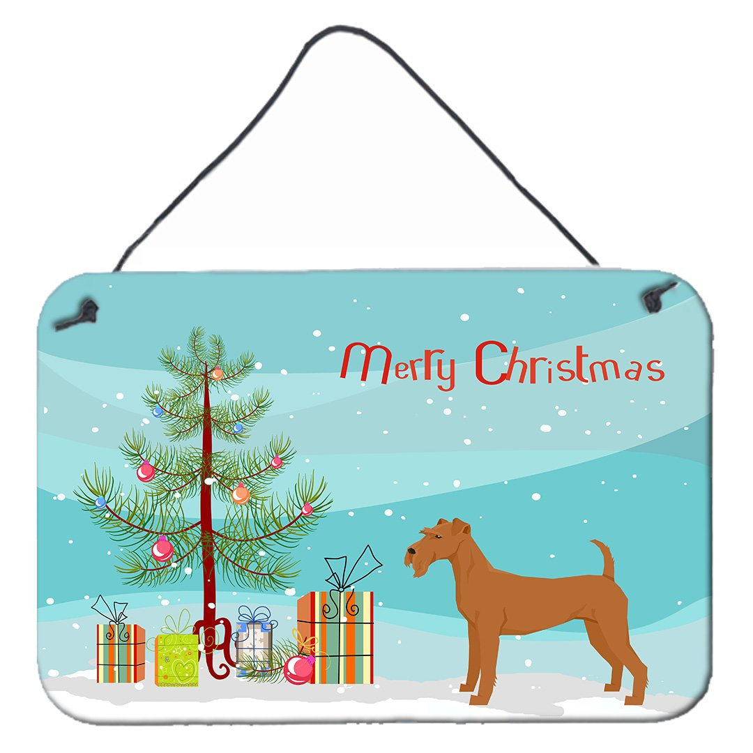 Buy this Irish Terrier Christmas Tree Wall or Door Hanging Prints CK3546DS812
