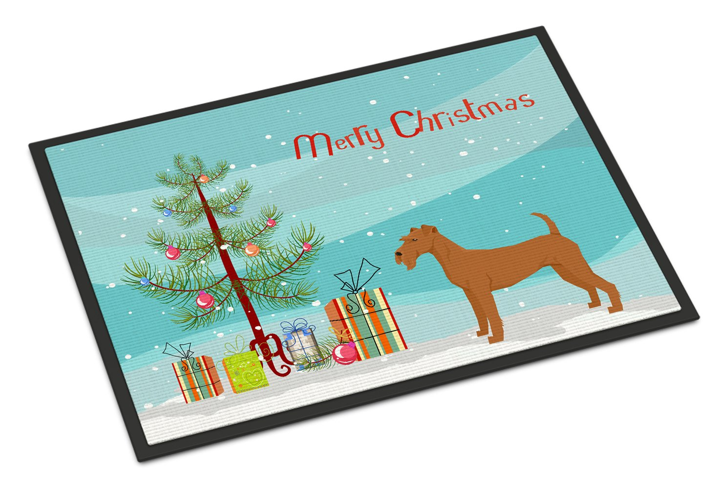 Irish Terrier Christmas Tree Indoor or Outdoor Mat 24x36 CK3546JMAT by Caroline's Treasures
