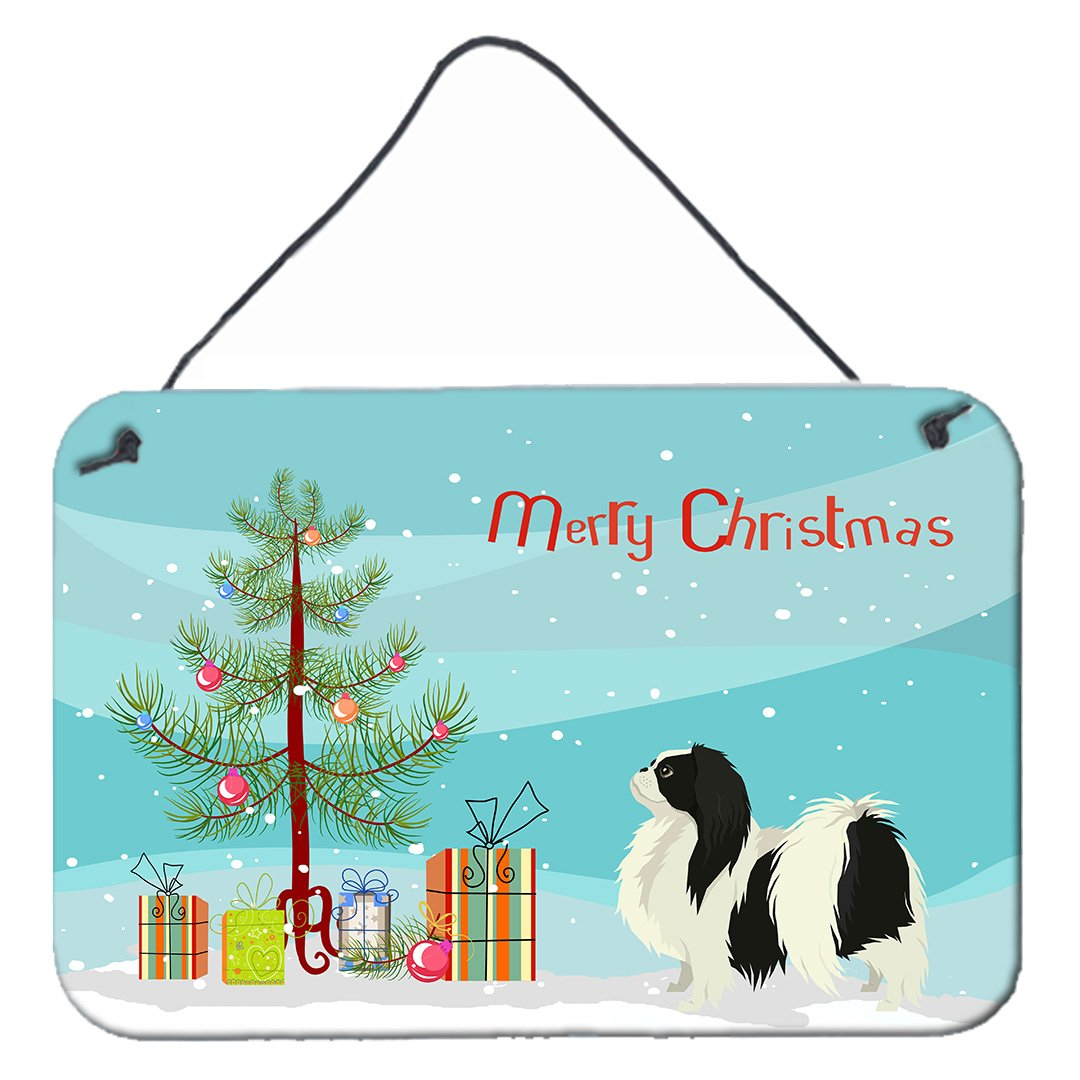 Japanese Chin Christmas Tree Wall or Door Hanging Prints CK3548DS812 by Caroline's Treasures