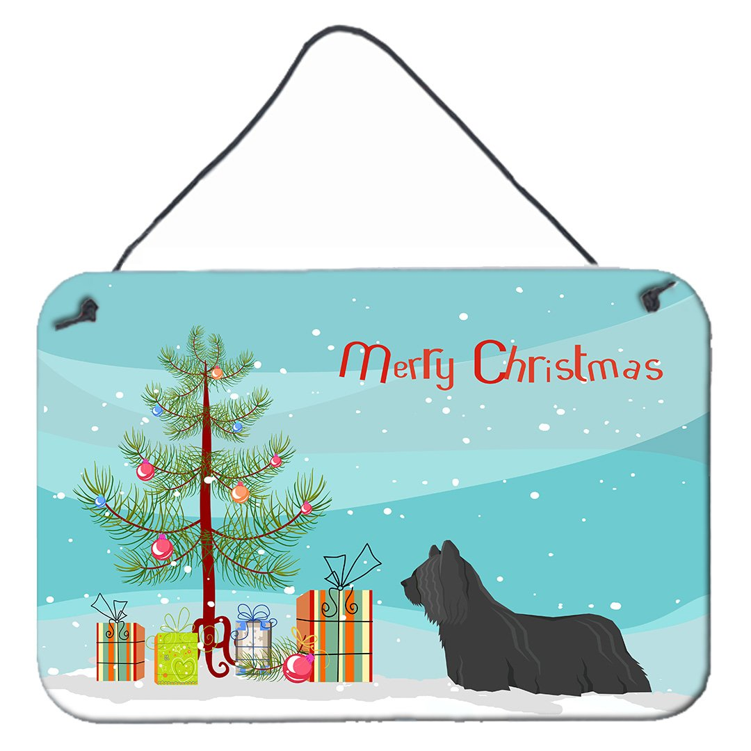 Buy this Skye Terrier Christmas Tree Wall or Door Hanging Prints CK3564DS812