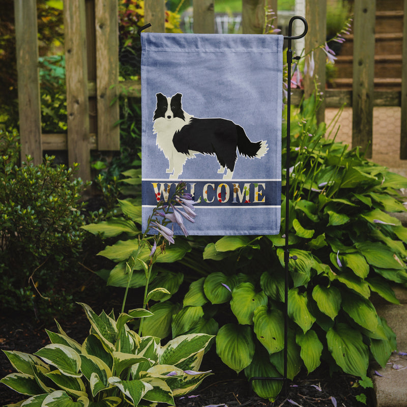 Buy this Border Collie Welcome Flag Garden Size CK3581GF