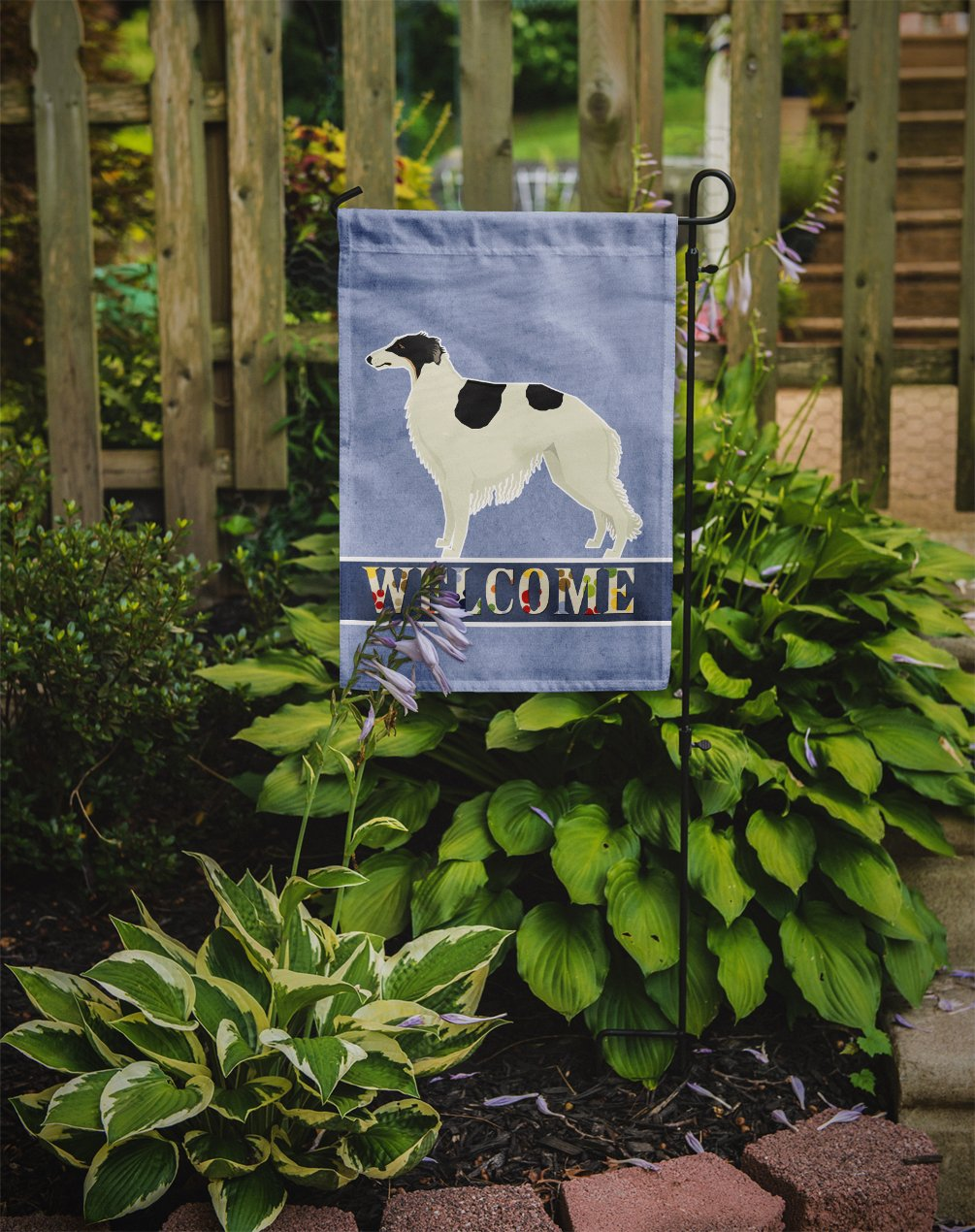 Borzoi Welcome Flag Garden Size CK3583GF by Caroline's Treasures