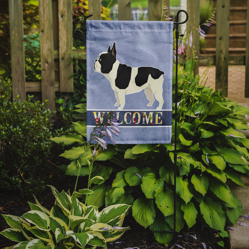 Buy this French Bulldog Welcome Flag Garden Size CK3598GF