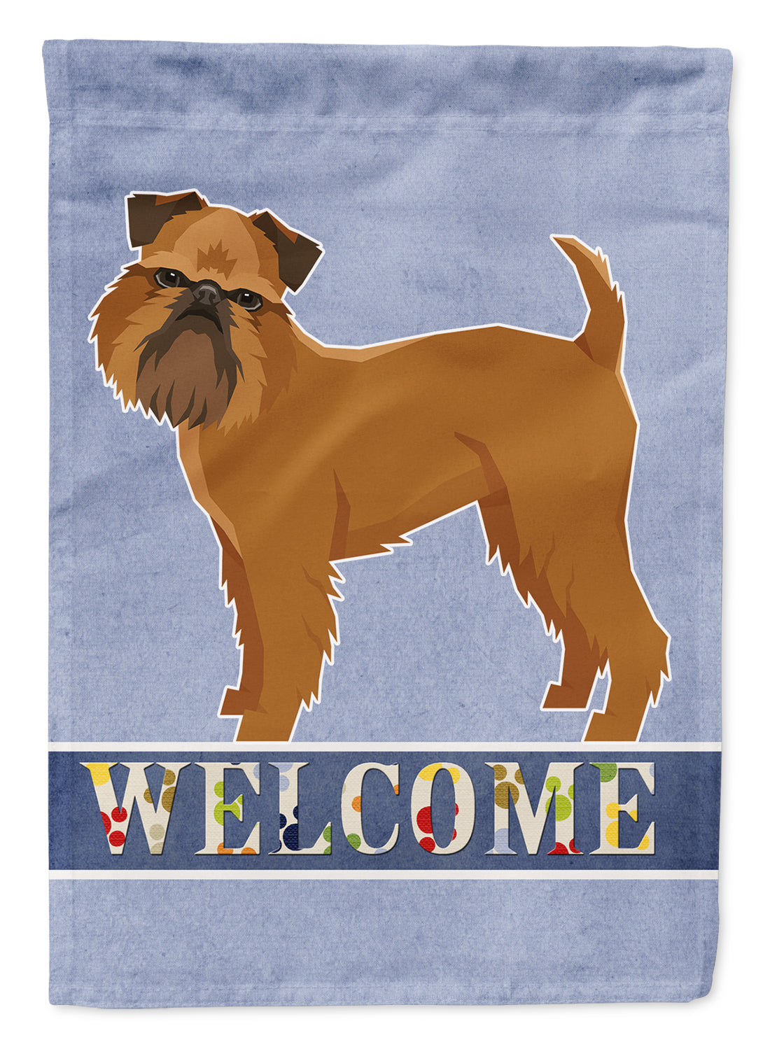 Buy this Brussels Griffon Welcome Flag Garden Size CK3603GF