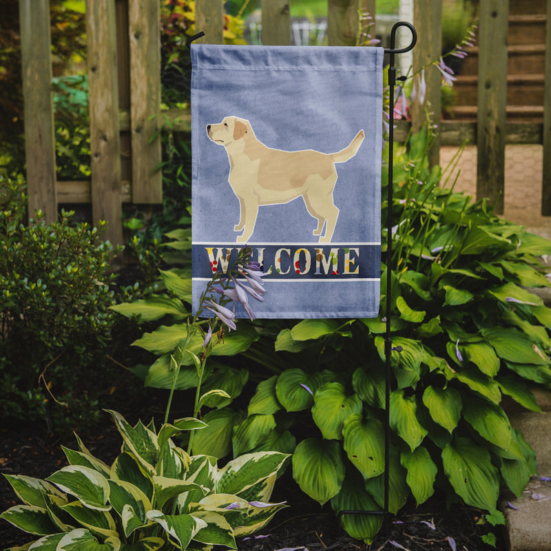 Buy this Labrador Retriever Welcome Flag Garden Size CK3608GF