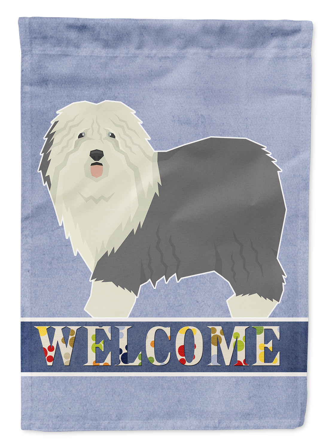 Buy this Old English Sheepdog Welcome Flag Garden Size CK3611GF