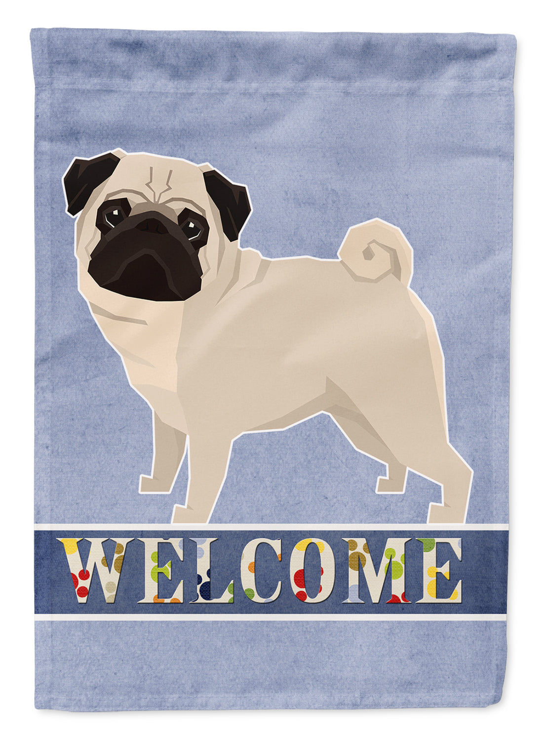 Buy this Pug Welcome Flag Garden Size CK3616GF