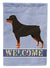 Buy this Rottweiler Welcome Flag Garden Size CK3617GF