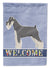 Schnauzer Welcome Flag Garden Size CK3618GF by Caroline's Treasures