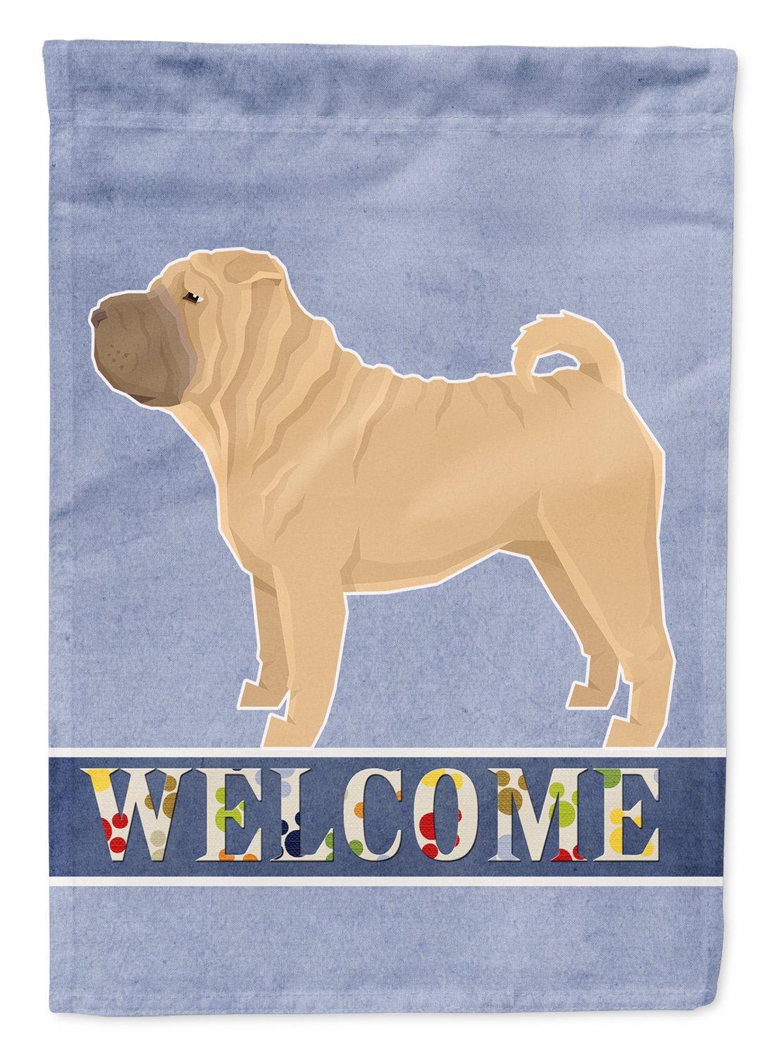 Buy this Shar Pei Welcome Flag Garden Size CK3621GF