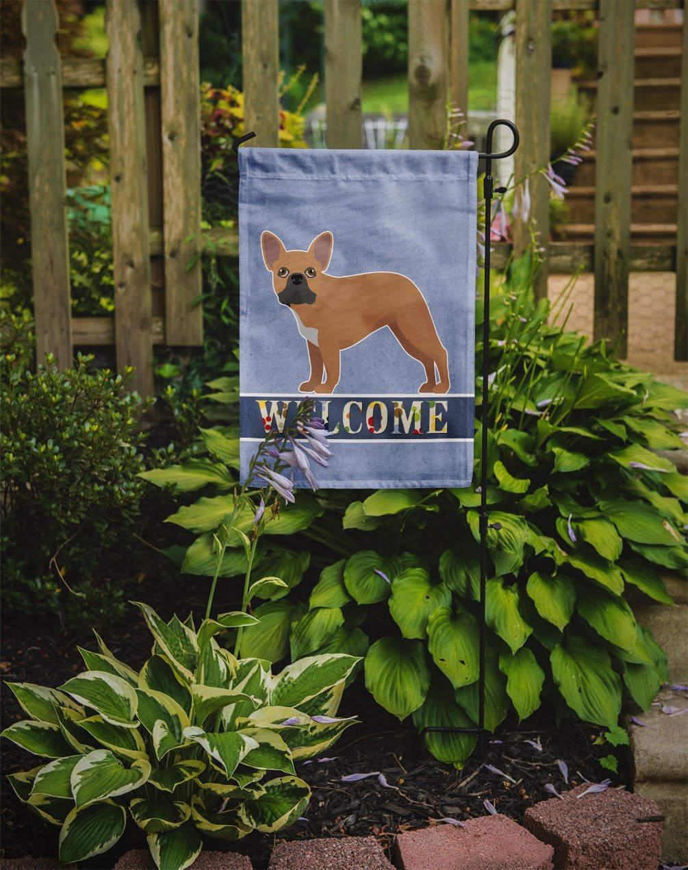 French Bulldog Welcome Flag Garden Size CK3647GF by Caroline's Treasures