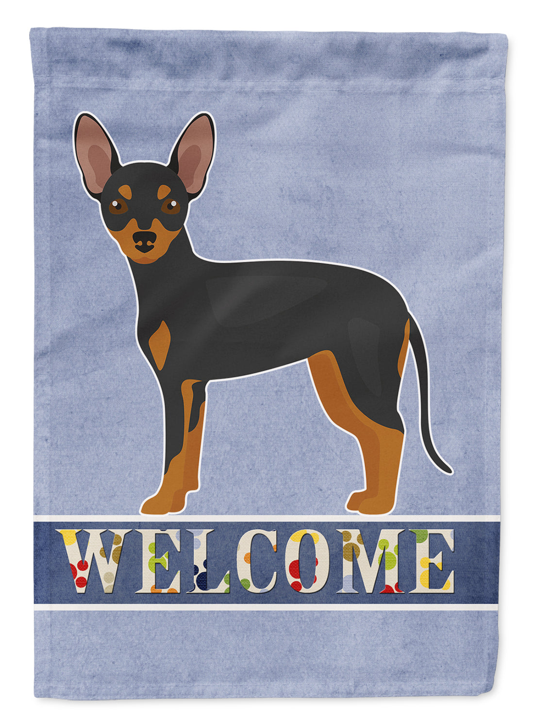 Prague Ratter Welcome Flag Canvas House Size CK3672CHF by Caroline's Treasures
