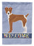 Buy this Rat Terrier Welcome Flag Canvas House Size CK3674CHF