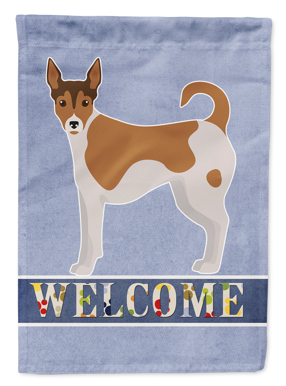 Tenterfield Terrier Welcome Flag Canvas House Size CK3679CHF by Caroline's Treasures
