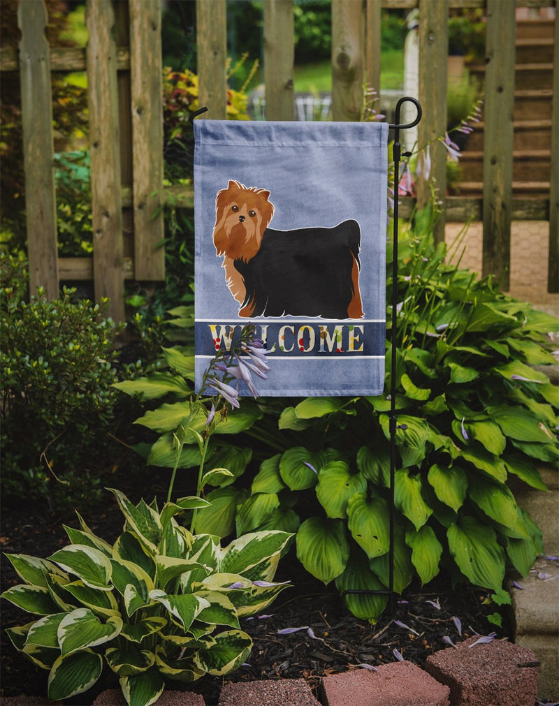 Buy this Yorkshire Terrier Welcome Flag Garden Size CK3682GF
