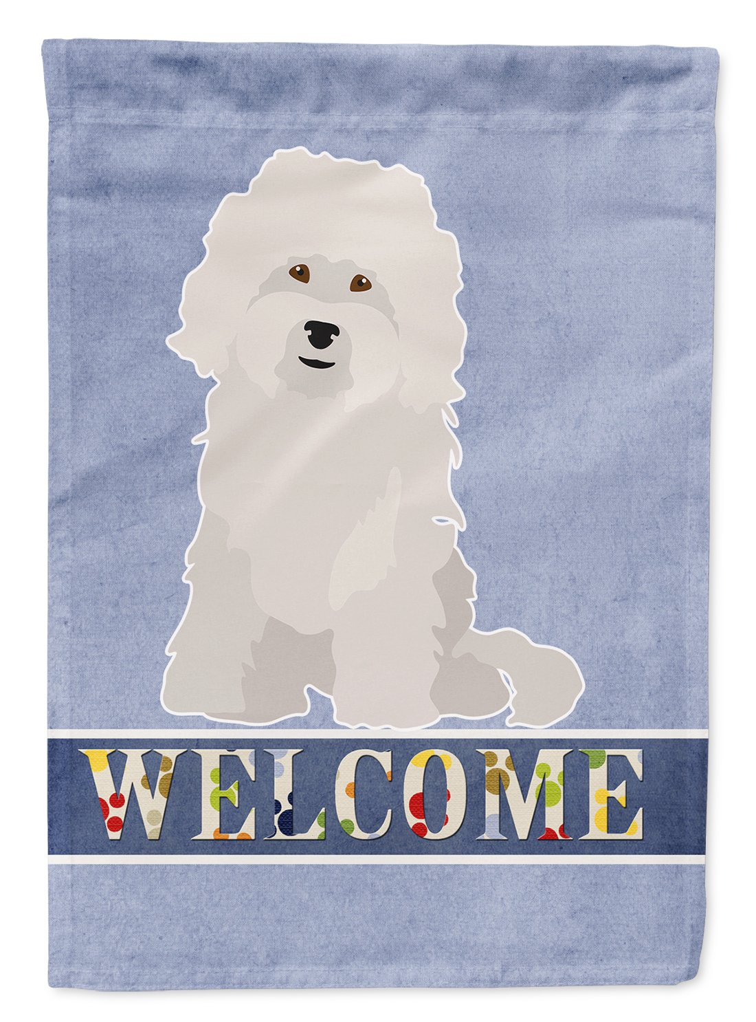Bolognese Welcome Flag Garden Size CK3684GF by Caroline's Treasures