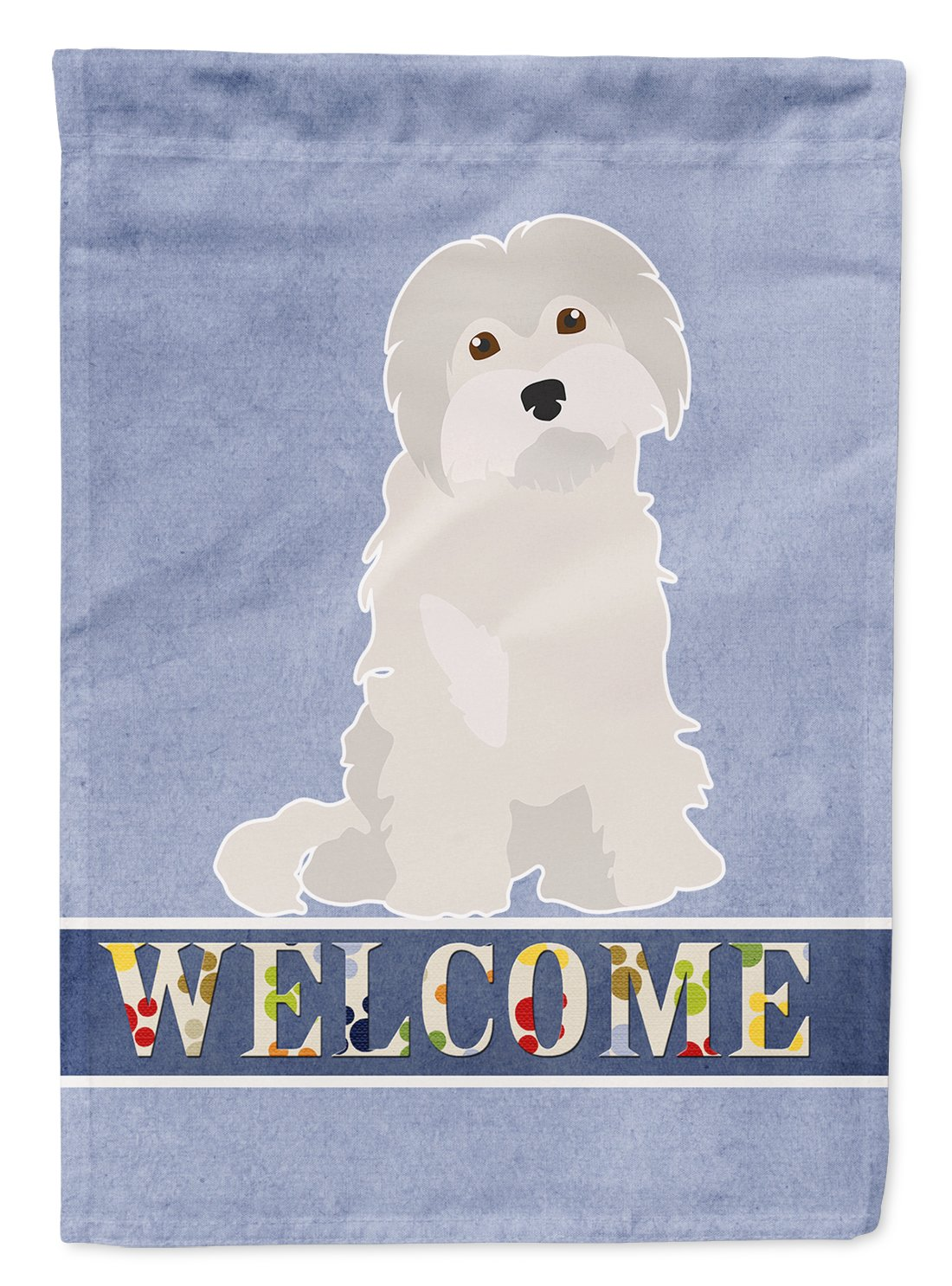 Maltese #2 Welcome Flag Garden Size CK3693GF by Caroline's Treasures