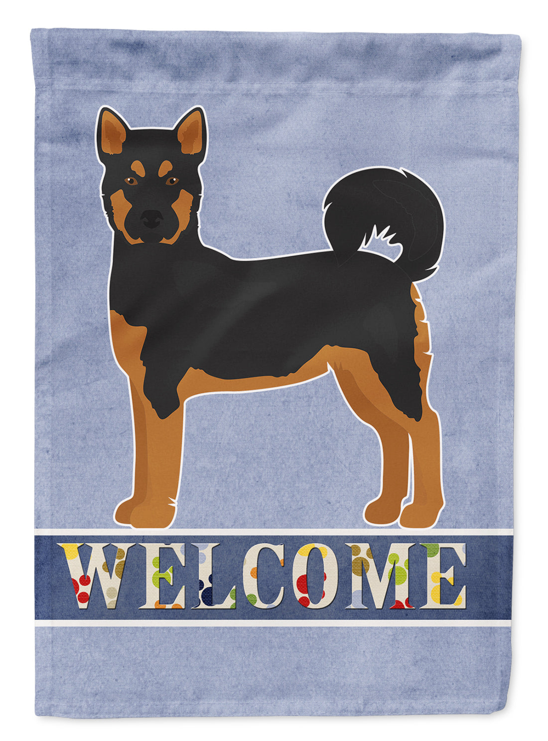 Akita Shepherd Black and Tan Welcome Flag Canvas House Size CK3704CHF by Caroline's Treasures