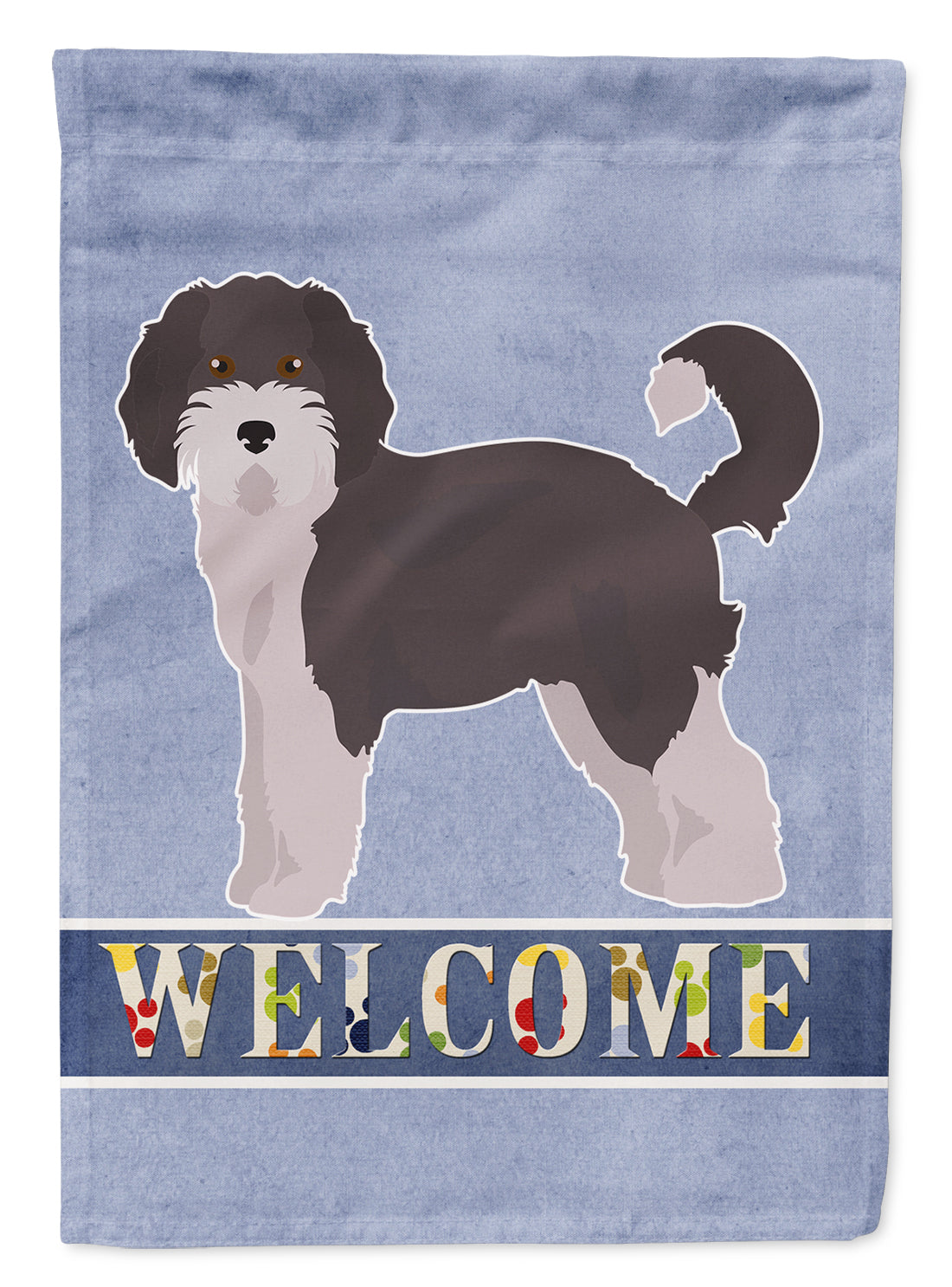 Aussiedoodle #1 Welcome Flag Canvas House Size CK3706CHF by Caroline's Treasures