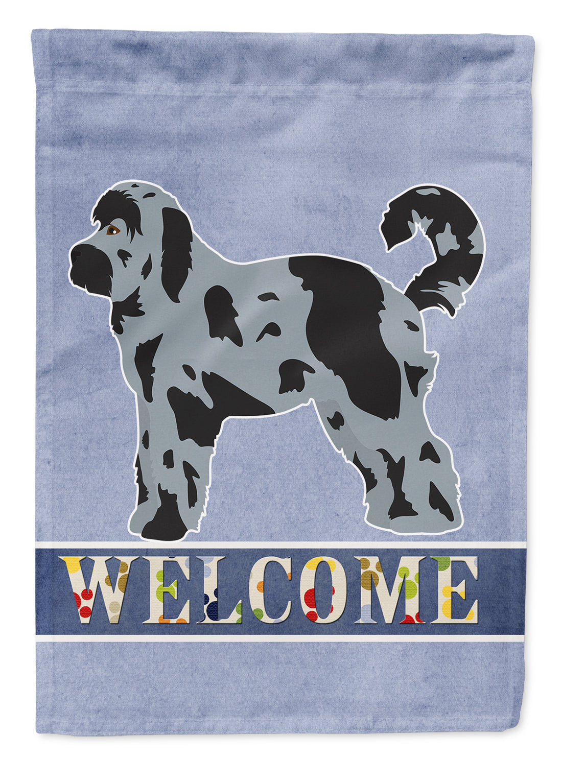 Aussiedoodle #2 Welcome Flag Canvas House Size CK3707CHF by Caroline's Treasures