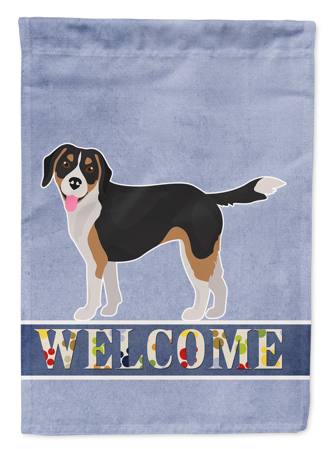 Beaglier #2 Welcome Flag Canvas House Size CK3709CHF by Caroline's Treasures