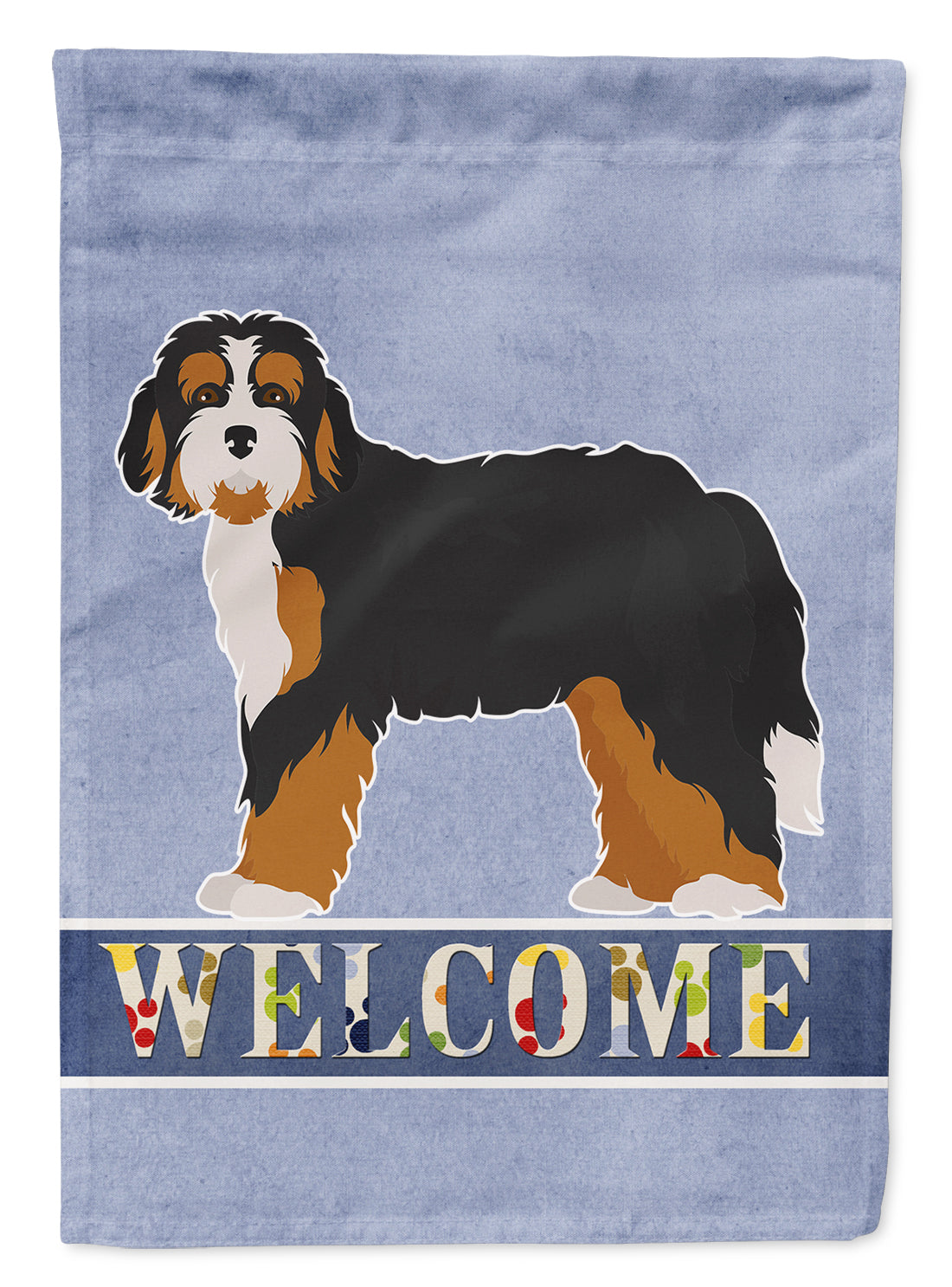 Bernedoodle Welcome Flag Garden Size CK3710GF by Caroline's Treasures