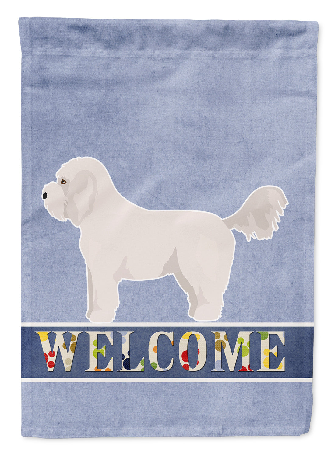Bichpoo White Welcome Flag Canvas House Size CK3711CHF by Caroline's Treasures