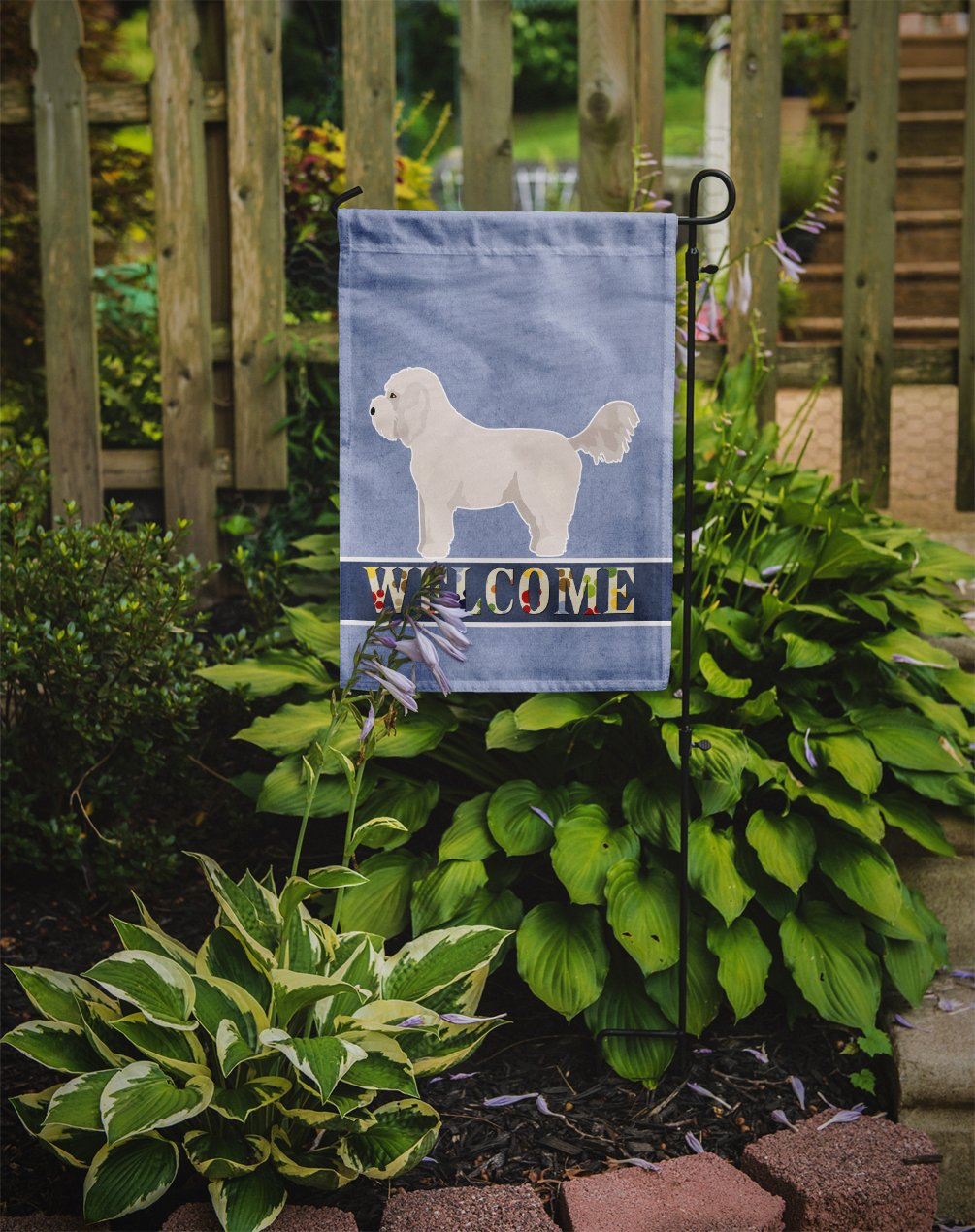 Bichpoo White Welcome Flag Garden Size CK3711GF by Caroline's Treasures