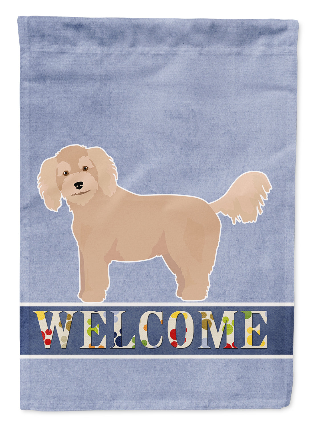 Bichpoo Welcome Flag Canvas House Size CK3712CHF by Caroline's Treasures