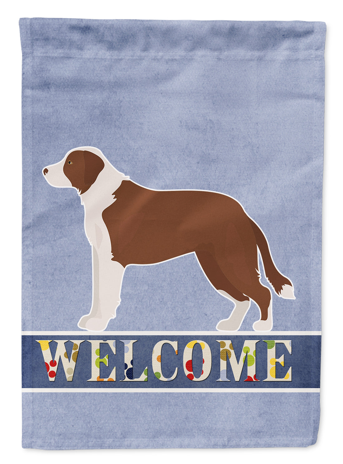 Borador Welcome Flag Canvas House Size CK3713CHF by Caroline's Treasures