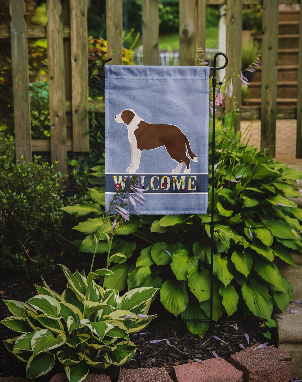 Borador Welcome Flag Garden Size CK3713GF by Caroline's Treasures