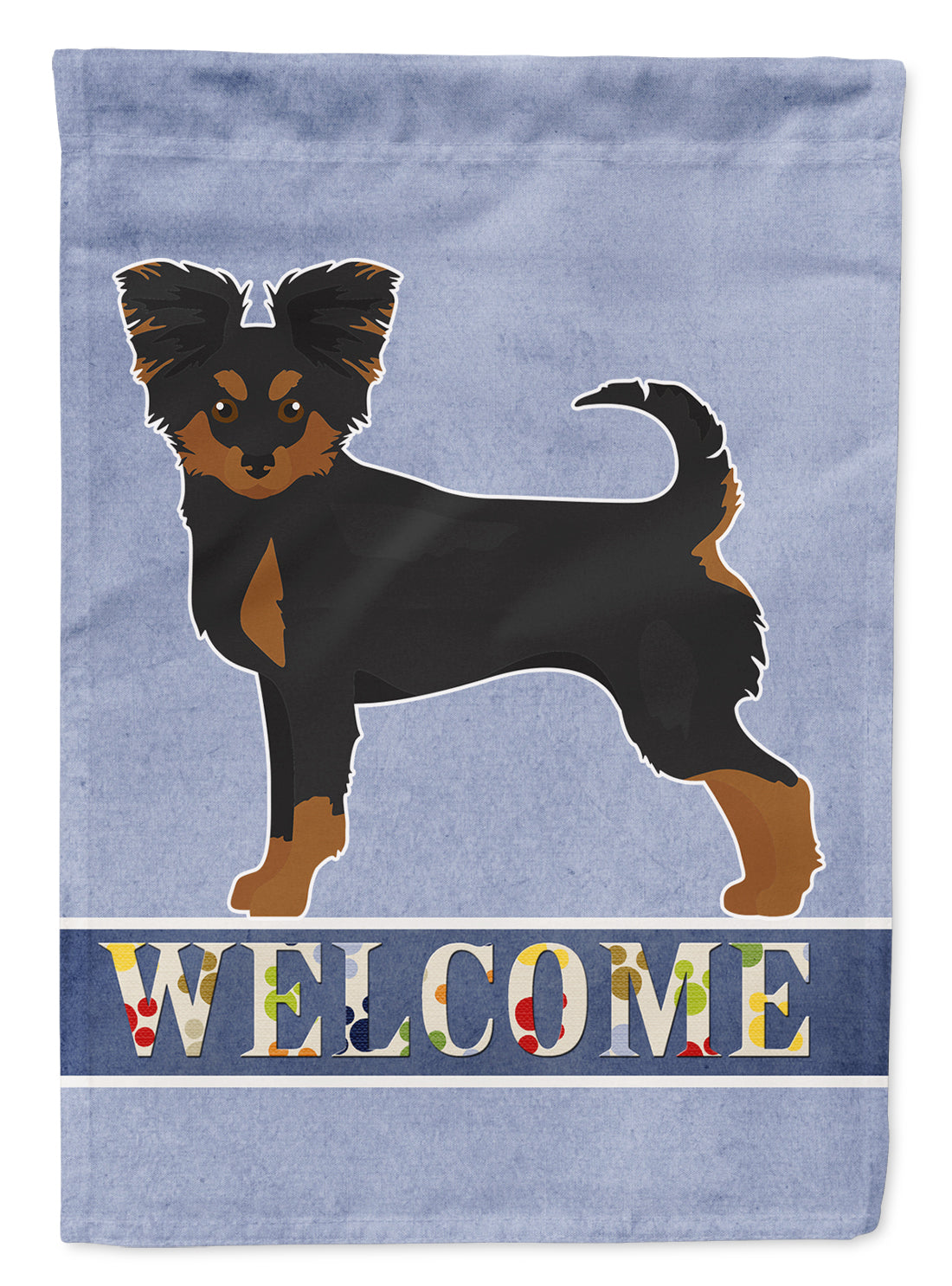 Black and Tan Chion Welcome Flag Canvas House Size CK3719CHF by Caroline's Treasures